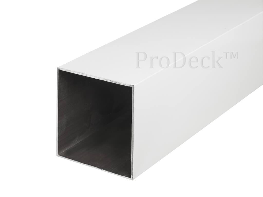Schuttingpaal aluminium helderwit  10x10