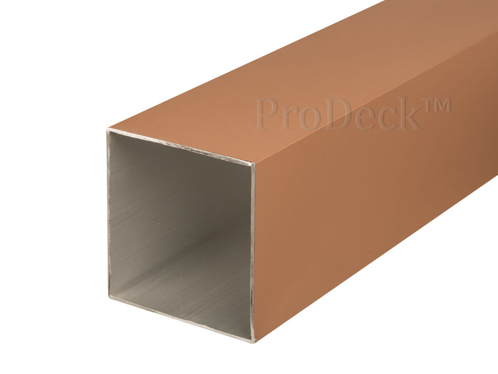 Schuttingpaal aluminium teak 10x10