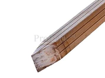 Hardhout • paal • 275x7x7 cm • bankirai • geprofileerd, geschaafd en gepunt