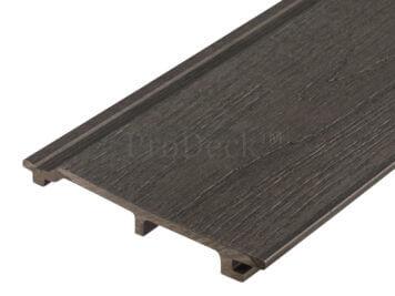 Rabat plank extra hoog • composiet • antraciet • houtnerfreliëf • gelamineerd