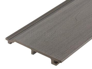 Rabat plank extra hoog • composiet • lichtgrijs • houtnerfreliëf • gelamineerd