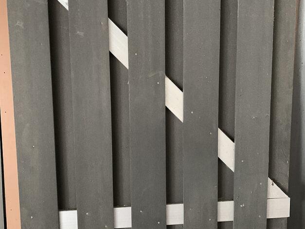 restant-51: deur • composiet • maxi-deur • antraciet • aluminium dwarsbalken • 90×180 cm