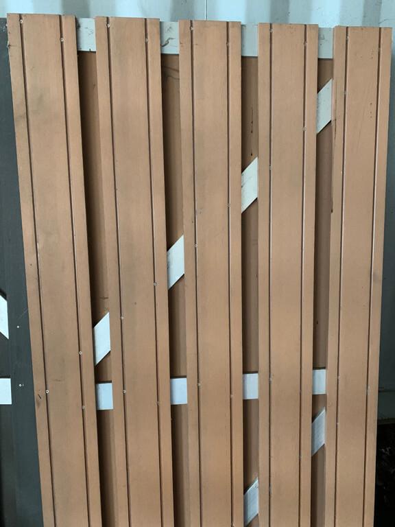 restant-52: deur • composiet • maxi-deur • bruin • aluminium dwarsbalken • 90×180 cm