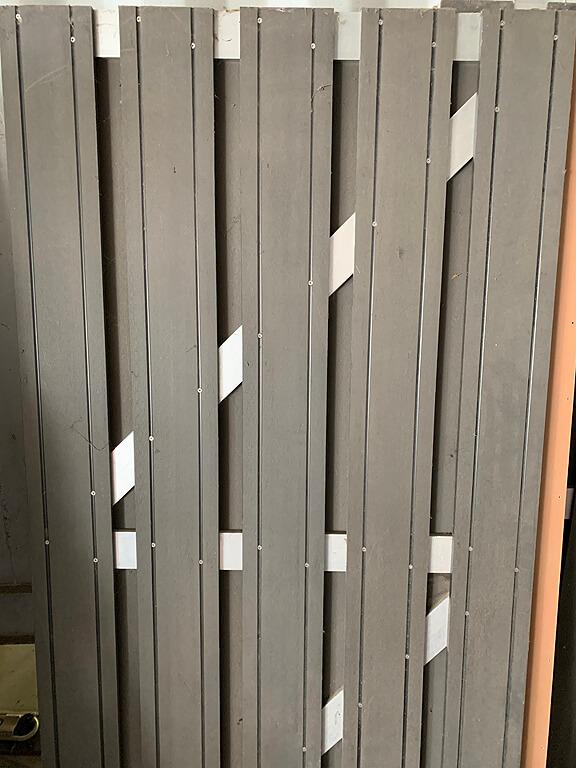 restant-53: deur • composiet • maxi-deur • antraciet • aluminium dwarsbalken • 90×180 cm