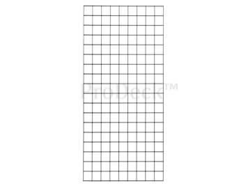 Draadmat • met zwarte PVC-coating • draaddikte 5,0 mm • 90×180 cm