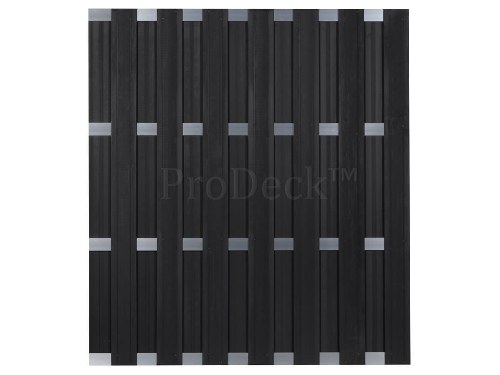 Composiet schutting antraciet aluminium 180x200