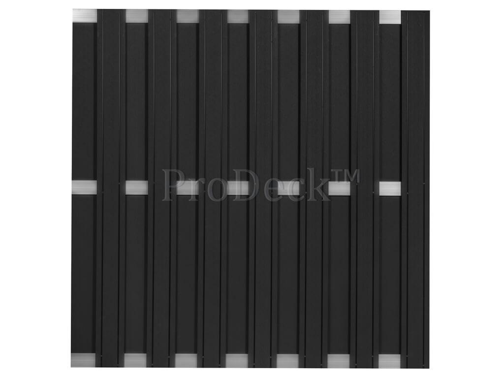 Composiet schutting maxi antraciet aluminium 3 dwarsbalken