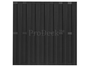 Maxi-schutting • composiet • antraciet • 13 mm dikke planken • 3 antraciet gecoate aluminium dwarsbalken • 180×180 cm