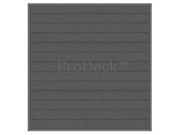 Stapelplank • schuttingset • composiet • antraciet houtnerf • volledige privacy • zelfbouwschutting