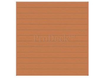 Stapelplank • schuttingset • composiet • bruin houtnerf • volledige privacy • zelfbouwschutting