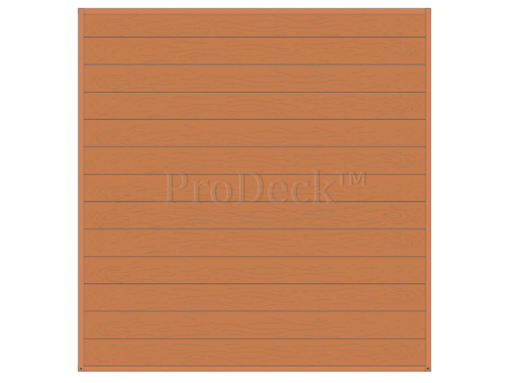 Composiet schuttingset stapelplanken bruin houtnerf