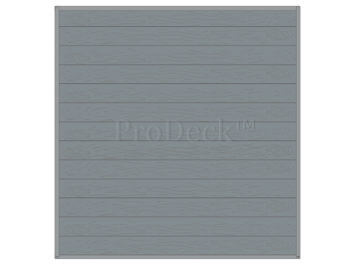 Stapelplank • schuttingset • composiet • grijs houtnerf • volledige privacy • zelfbouwschutting