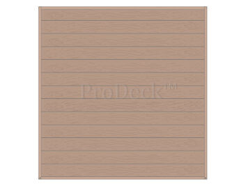 Stapelplank • schuttingset • composiet • teak houtnerf • volledige privacy • zelfbouwschutting