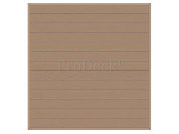 Stapelplank • schuttingset • composiet • vergrijsd bruin houtnerf • volledige privacy • zelfbouwschutting