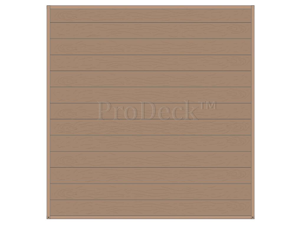 Composiet schuttingset stapelplanken vergrijsd bruin houtnerf
