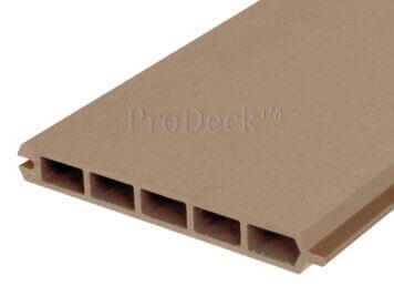 Stapelplank • composiet • teak • extra hoog • 179x20x2,5 cm • zelfbouwschutting