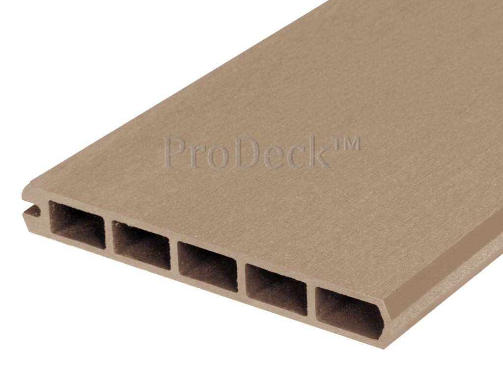 Composiet stapelplank 20 cm teak eindplank