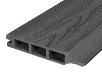 Stapelplank • composiet • antraciet houtnerf • 179x15x2,5 cm • zelfbouwschutting