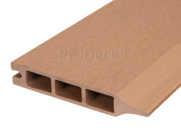 Stapelplank • composiet • bruin • 179x15x2,5 cm • zelfbouwschutting