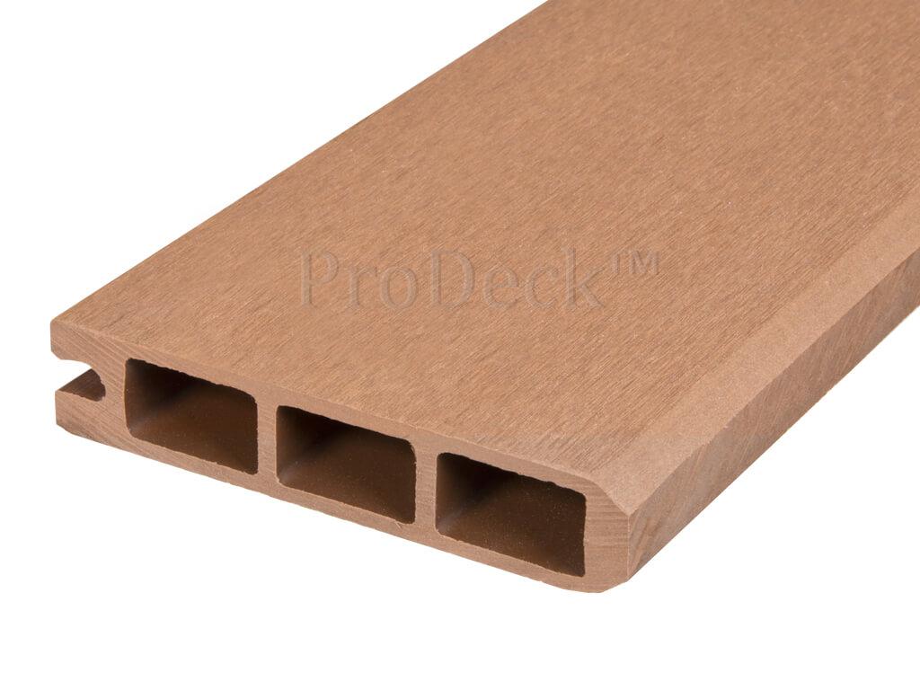Composiet stapelplank bruin eindplank