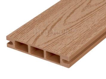 Stapelplank • raamplank • composiet • bruin houtnerf • 179x14x2,5 cm • zelfbouwschutting