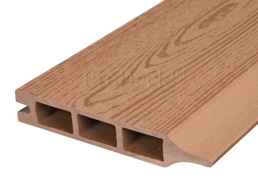Composiet stapelplank bruin houtnerf