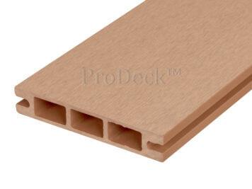 Stapelplank • raamplank • composiet • bruin • 179x14x2,5 cm • zelfbouwschutting