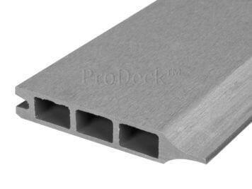 Stapelplank • composiet • grijs • 179x15x2,5 cm • zelfbouwschutting