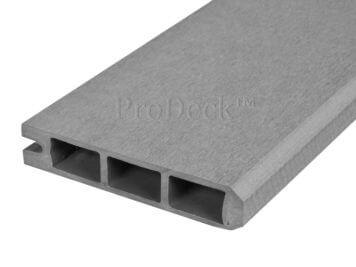 Stapelplank • eindplank • composiet • grijs • 179x15x2,5 cm • zelfbouwschutting