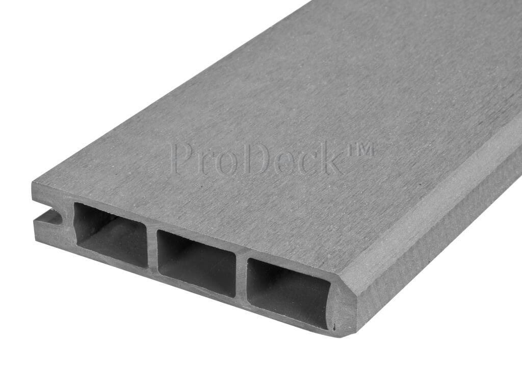 Composiet stapelplank grijs eindplank