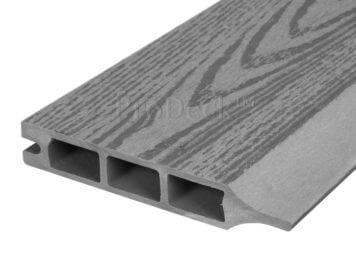 Stapelplank • composiet • grijs houtnerf • 179x15x2,5 cm • zelfbouwschutting
