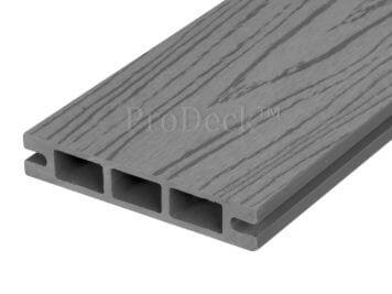 Stapelplank • raamplank • composiet • grijs houtnerf • 179x14x2,5 cm • zelfbouwschutting