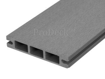 Stapelplank • raamplank • composiet • grijs • 179x14x2,5 cm • zelfbouwschutting