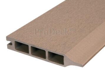 Stapelplank • composiet • teak • 179x15x2,5 cm • zelfbouwschutting