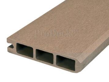 Stapelplank • eindplank • composiet • teak • 179x15x2,5 cm • zelfbouwschutting