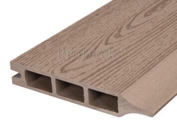 Stapelplank • composiet • teak houtnerf • 179x15x2,5 cm • zelfbouwschutting