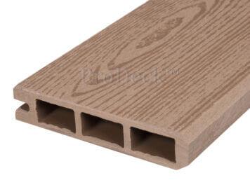 Stapelplank • eindplank • composiet • teak houtnerf • 179x15x2,5 cm voor composiet zelfbouwschutting