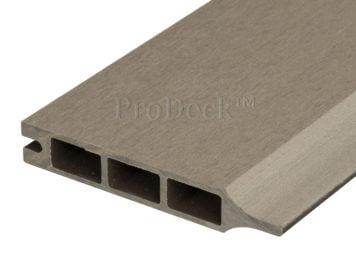Stapelplank • composiet • vergrijsd bruin • 179x15x2,5 cm • zelfbouwschutting
