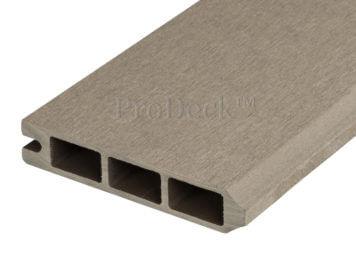 Stapelplank • eindplank • composiet • vergrijsd bruin • 179x15x2,5 cm • zelfbouwschutting