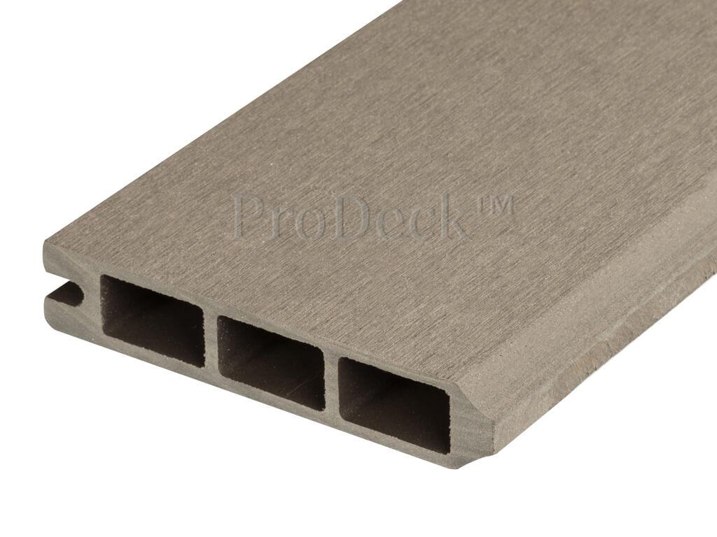Composiet stapelplank vergrijsd bruin eindplank