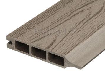 Stapelplank • composiet • vergrijsd bruin houtnerf • 179x15x2,5 cm • zelfbouwschutting