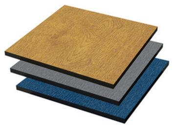 Vikulit • HPL-plaat • antraciet • 6 mm dik • 305 x 130 cm