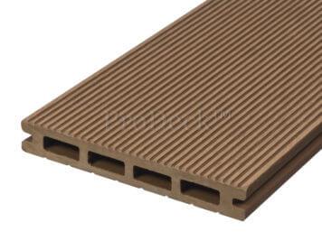 Vlonderplank • composiet • bankiraibruin • 220×14,5×2,1 cm • fijnribbel