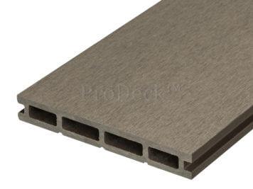 Vlonderplank • composiet • vergrijsd bruin • egaal • 21 mm dik