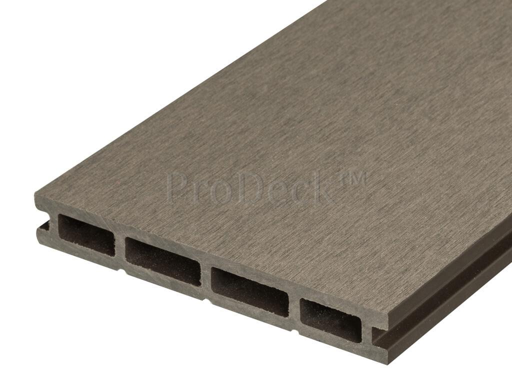 Composiet vlonderplank 21 mm vergrijsd bruin egaal