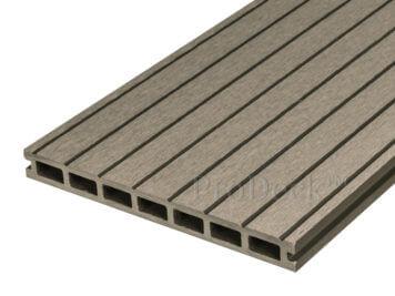 restpartij: Vlonderplank • composiet • vergrijsd bruin • breedribbel • diverse lengtes • ca. 7,2 m2 incl.clips