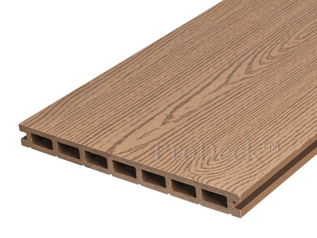 Composiet vlonderplank 24 cm bankiraibruin houtnerf