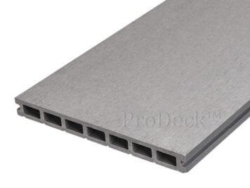 Vlonderplank • composiet • 24 cm breed • steengrijs • egaal