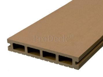 Vlonderplank • composiet • bankiraibruin • 220x15x2,5 cm • egaal