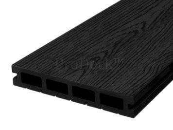 Vlonderplank • composiet • donkerantraciet • 450x15x2,5 cm • houtnerf